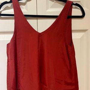 HOLLISTER Red/burgundy sleeveless blouse